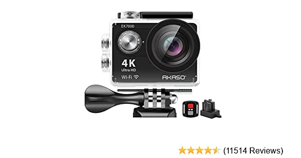 with Wireless Remote Custom Case Memory Card Sports Camera Starter Kit Sage Silver AKASO EK7000 4K Video WiFi Action Camera Ultra HD Waterproof DV Camcorder 12MP 170 Degree Wide Angle LCD