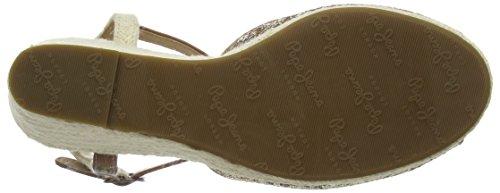 Shark Et Talon Pepe à Or Bride Sandales 099gold Femme Jeans Shine Gold compensé 55qwrYxp0