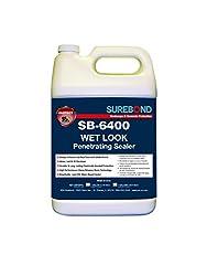SEK Surebond SB-6400 G Wet Look Penetrating Sealer, Water-Based Silane/Siloxane Blend Silicone, Darkening