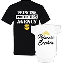 The Shirt Den Princess Protection Agency Daddy Daughter Matching Shirts Custom Personalized