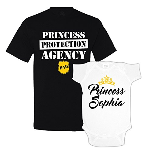 Princess Protection Agency Daddy Daughter Matching Shirts Custom Personalized