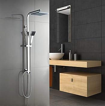 Aurho columna de ducha conjunto de ducha set con cabezal de mano ...
