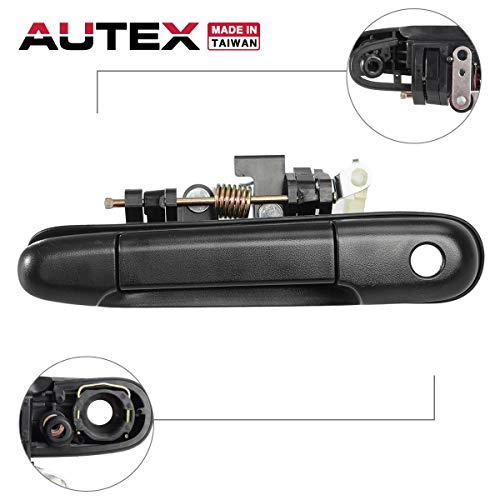AUTEX Door Handle 77236 Exterior Front Driver Left Side LH Compatible with Toyota Tercel 1991 1992 1993 1994 Replacement for Toyota Paseo 1992 1993 1994 1995 -