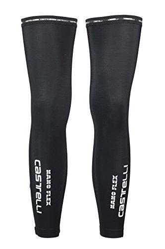 Castelli Nanoflex leg warmers cycling black black (Size: L) by Castelli