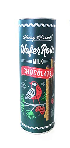 Harry & David Wafer Rolls Holiday Limited Edition 1 Pack (Chocolate, 3oz)