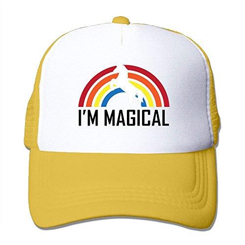 発音するくただやるI'm Magical ユニコーン と レインボー キャップ 帽子 春夏秋 おしゃれ 男女兼用 日焼け止め 紫外線防止 通気 ヒップホップ野球帽