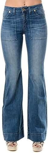Michael Kors Flared Leg Jeans Stretch Denim Pants, Vintage Blue Wash