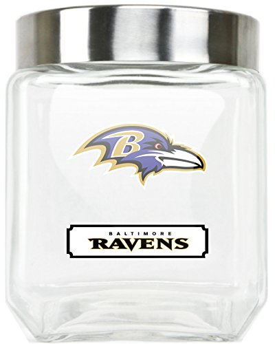 - NFL Baltimore Ravens Glass Canister, Large