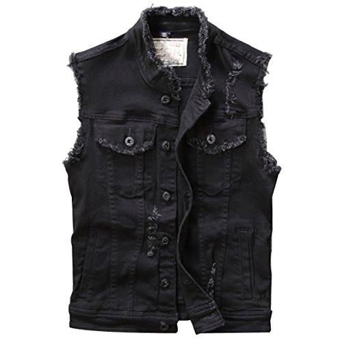 Sleeves Chaleco GLF Black Cultivo Sleeper Burr Juventud Cowboy Primavera Retro Hombres Y Verano Cueva Sleeveless Vest Coat xwBRx1z4q