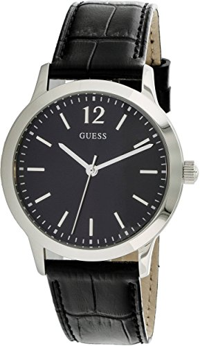 Guess-Watches-Mens-Guess-Mens-Leather-Black-Watch