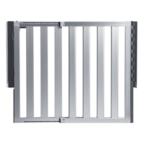 Munchkin Loft Aluminum Hardware Mount Baby Gate for Stairs, Hallways and Doors, Extends 26.5
