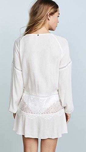 For Love & Lemons Women's Olympia Lace Cover Up Tunic, White, Small by For Love & Lemons (Image #3)