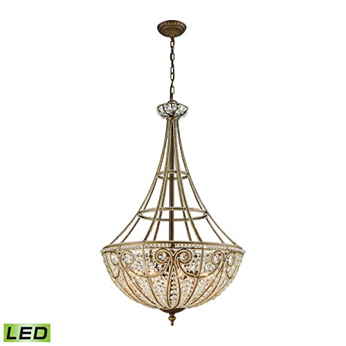 Elk Lighting 15966/8-LED Elizabethan 8 Light LED Pendant in Dark Bronze Chandelier