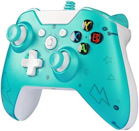 YL - Mando USB con cable para Xbox One PC Juegos Controlador Para Wins 7 8 10 Microsoft Xbox One Joysticks Gamepad con doble vibración: Amazon.es: Hogar