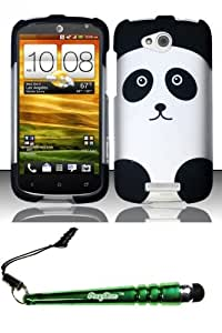 FoxyCase(TM) FREE stylus AND For HTC One VX (AT&T) Rubberized Design Case Cover Protector - Panda Bear Desire Safe Phone cas couverture