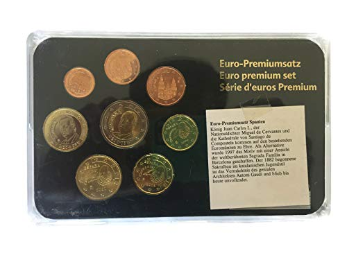 9 Rare Collectible UNC Euro Coin Spain Commemorative Set EU Official Coins