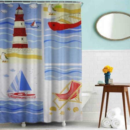 Flat Screen Printing Shower Curtain Polyester Cartoon Ocean 10 Pieces//Bag Baiyun 2 Bags