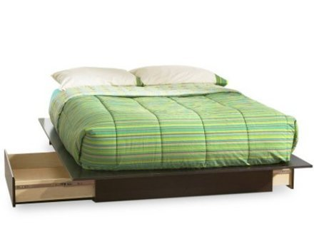 SKB Family Queen size Modern Platform Bed with 2 Storage Dra