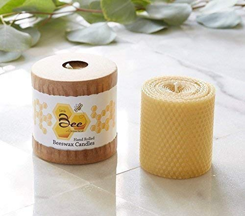 - 3 Inch Hand-Rolled Beeswax Pillar Candle - Little Bee of CT, A Martha Stewart American Made Maker