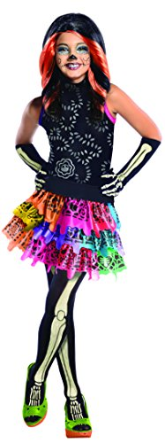 Calavera Costume Makeup (Monster High Skelita Calaveras Costume, Medium)