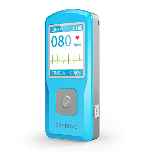 OXPROVO Portable EKG/ECG Monitor Machine, Heart Rate Monitor with PC Software Electrocardiogram, Compatible with Windows & Mac. Detects in 30 Seconds, FDA-Cleared.