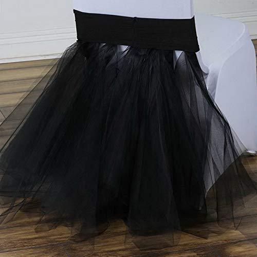 Mikash 椅子サッシュ チュール 2020 新作 チュチュ スパンデックス 驚きの価格が実現 結婚披露宴 パーティーデコレーション モデルWDDNGDCRTN childweddingdecoration-7251 cl 7 B07RG7ZXTK pcs 50 6611 ホワイト