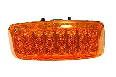 Larson Electronics Amber 24 LED Strobe or Steady Light - Battery Operated Back/Base Magnetic Mount