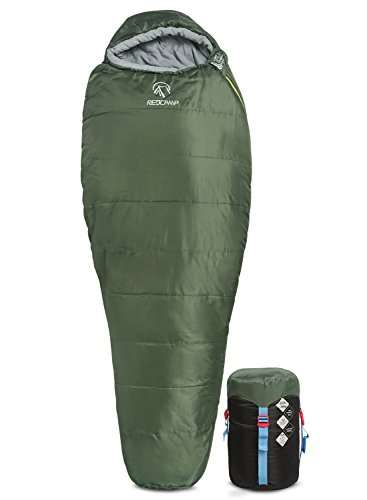 REDCAMP Mummy Sleeping Bag For BackpackingLightweight Portable Camping Hiking Sleeping Bag For Adults