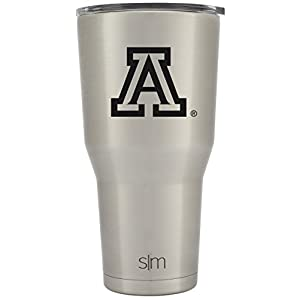 Simple Modern The University of Arizona 30oz Cruiser Tumbler - Vacuum Insulated Stainless Steel Travel Mug - U of A Wildcats Tailgating College Flask - Simple Stainless