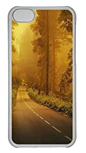 iPhone 5C Cases & Covers -Fog forest road Custom PC Hard Case Cover for iPhone 5C ¨CTransparent