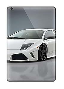 5617212I93647502 Ipad Cover Case - White Lamborghini Murcielago Protective Case Compatibel With Ipad Mini