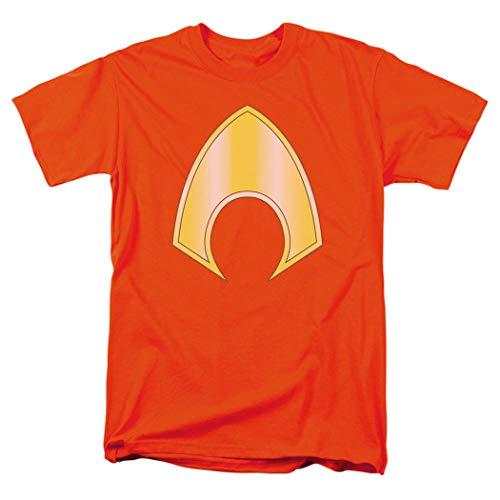 Aquaman Logo Emblem Justice League T Shirt & Exclusive Stickers (Large)]()