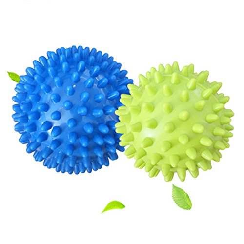 Roller Balls, Lacrosse Balls for Myofascial Release, Plantar Fasciitis, Pain Relief, Foot Massager,Fits Men Women, Blue(L) & Green(S) ()
