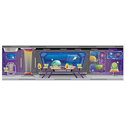 Fun Express - God's Galaxy Vbs Lg Spaceship Backdrop - Party Decor - Wall Decor - Preprinted Backdrops - 7 Pieces]()