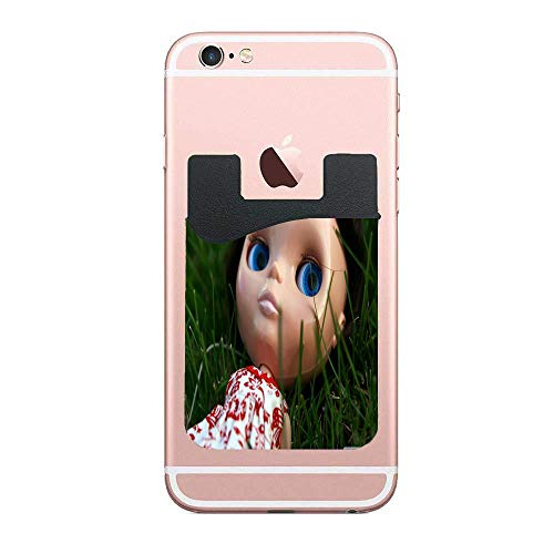 Two Adhesive Phone Stick On Wallet & RFID Blocking Sleeve,Ramona Doll Universally fits Most Cell Phones & Cases,Ultra-Slim,Tall Pocket Totally Covers Credit Cards & Cash