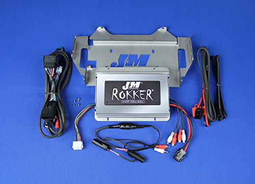 J&M Stage-5 ROKKER XXRP 700w 4-CH DSP Programmable Amplifier kit for 2014-2019 Harley Ultra or Ultra Ltd.# JAMP-700HC14-ULP-ST5