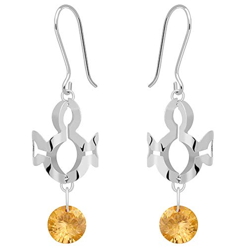 4 Ct Yellow Round Cubic Zirconia 925 Sterling Silver Earring For Women: Nickel Free Beautiful And Stylish Birthday Gift For Mother And Wife