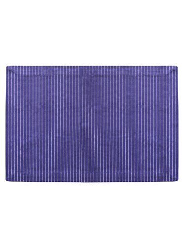 Blue Pinstripe, 100% Cotton Table Mats, Size 13 x 19, Eco Friendly And Safe ()