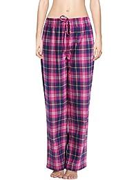 cyz 100% algodón Super de la mujer tartán/Lounge pantalones de pijama de franela suave