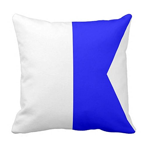 Nautical Flag Signal Letter A pillow case 18*18 (Nautical Flag Pillows)