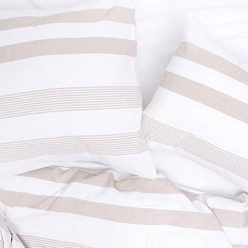 Stripe Yarn Awning (carol & frank Noland Stripe Dune Queen Duvet Cover Full/Queen Quilt Dune)