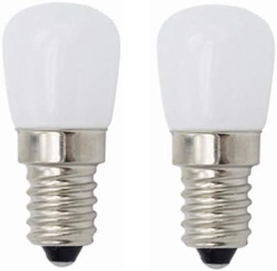 JiuRui-LED Lámpara Bombillas de luz LED para refrigerador, E14 3W Bombillas de luz LED de época para refrigerador de Nevera, Máquina de Coser, Campana extractora de iluminación, 220V 2pcs: Amazon.es: Hogar