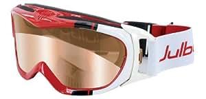 Julbo Revolution Goggle, Cat 2-4 Zebra Anti-Fog Lens, Red/White Large