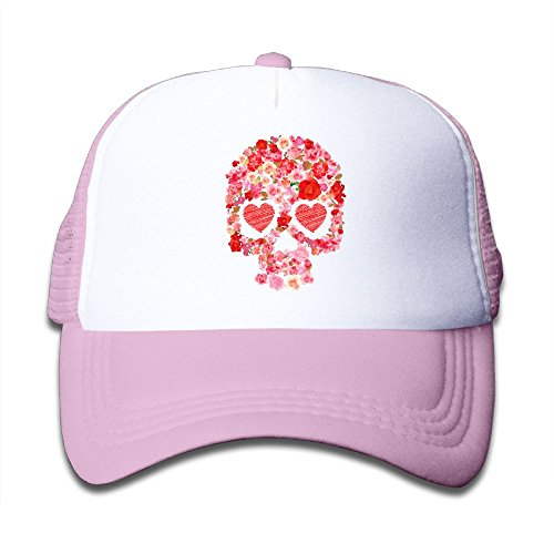 Sugar Skull Skeleton Unisex Adjustable Sports Mesh Cap Hat Pink (Sugar Pink Hat)