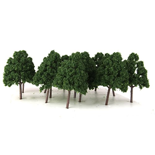 MagiDeal 25pcs Miniature Plastic Trees for Model Railways N Scale