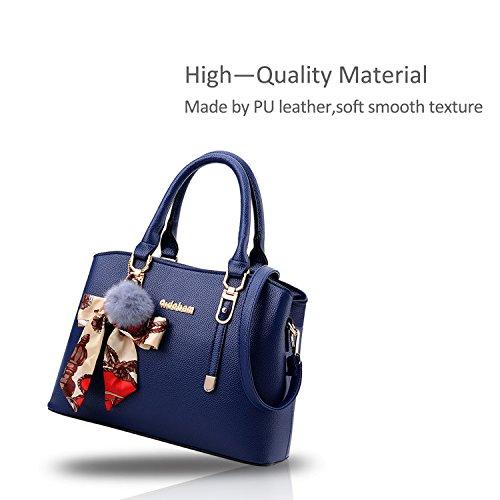 Ornament Crossbody Handbag Nicole Women Soft Blue for PU Bag amp;Doris Totes Satchel Black Shoulder aTEgnBqzEw