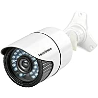ISEEUSEE 720P Video Security Camera 1500TVL CCTV AHD Indoor/Outdoor Night Vision Bullet Cameras- White