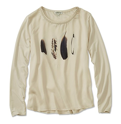 Orvis Feather-Print Tee, Medium Champagne ()