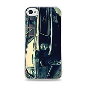 Vintage Mustang iPhone 6 White Silicone Case