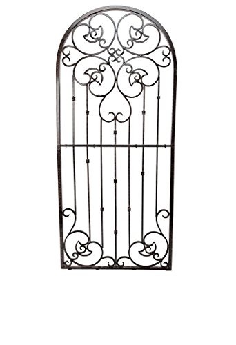 Metal Garden Scroll - H Potter 8 Foot Tall Garden Trellis Wrought Iron Heavy Scroll Metal Decoration Lawn, Patio & Wall Decor Screen for Rose, Clematis, Ivy Weather Resistant Patio Deck Wall Art (X-Large)